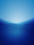 Ondas de água profunda abstratas Imagem de Stock