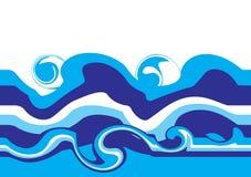 Ondas de agua ilustración del vector