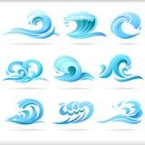 Ondas de agua azul