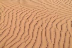 Ondas de arena del desierto Foto de archivo libre de regalías