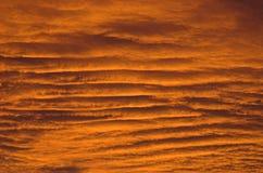 Ondas de céu douradas fotos de stock