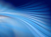 Ondas de doblez del azul Imagen de archivo libre de regalías