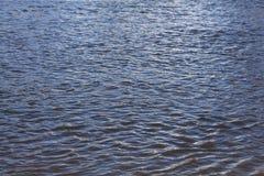Ondas de la agua de mar de la textura Fotos de archivo libres de regalías