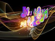 Ondas de la música ilustración del vector