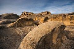 Ondas de la piedra, Georgia, el Cáucaso Imagen de archivo libre de regalías