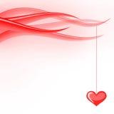 Ondas de las tarjetas del día de San Valentín Foto de archivo