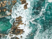Ondas de océano Fotos de archivo