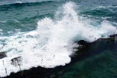 Ondas de océano de gran alcance Fotografía de archivo libre de regalías