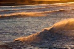 Ondas de océano en California meridional Fotografía de archivo