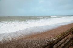 Ondas de océano en la playa Foto de archivo libre de regalías