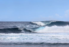 Ondas de océano gigantes Fotos de archivo