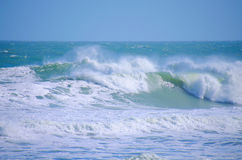 Ondas de océano grandes de los mares agitados Fotografía de archivo libre de regalías