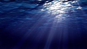 Ondas de oceano do underwater ilustração do vetor