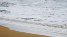 Ondas de oceano que espirram na costa video estoque