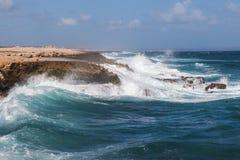 Ondas de Playa Canoa foto de stock royalty free