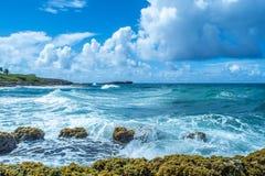 Ondas de Puerto Rico San Juan Fotografia de Stock