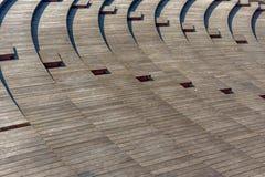 Ondas de séries de madeira fotografia de stock royalty free
