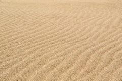 Ondas de viento en la arena en la playa Fotografía de archivo