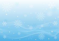Ondas del blanco del invierno stock de ilustración