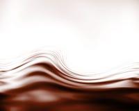 Ondas del chocolate ilustración del vector