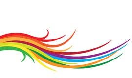 Ondas del color Fotografía de archivo libre de regalías