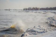 Ondas del hielo Fotografía de archivo libre de regalías