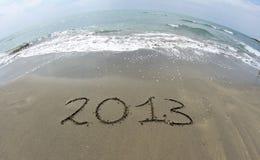 Ondas del mar en la playa Fotos de archivo libres de regalías