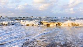 Ondas del northsea, agua tranquila imagenes de archivo
