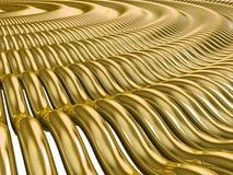 Ondas del oro Stock de ilustración