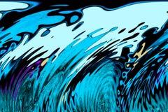 Ondas del tsunami Foto de archivo libre de regalías