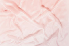 Ondas delicadas da seda da cor-de-rosa do cetim Foto de Stock Royalty Free