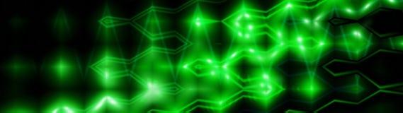 Ondas do efeito do fluxo Teste padrão de incandescência de néon brilhante das luzes ilustração do vetor