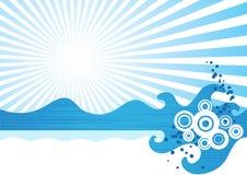 Ondas do mar ilustração stock