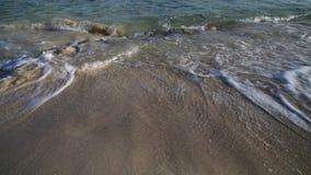 Ondas do mar na areia, Chipre filme