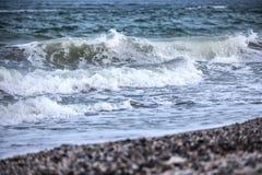 Ondas do mar tormentoso Foto de Stock