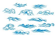 Ondas do oceano e do mar ilustração royalty free