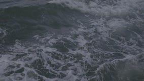 Ondas do oceano ou do mar slowmotion video estoque