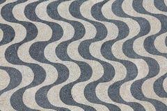 Ondas do pavimento de Lisboa Fotografia de Stock Royalty Free
