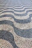 Ondas do pavimento de Lisboa Fotos de Stock Royalty Free
