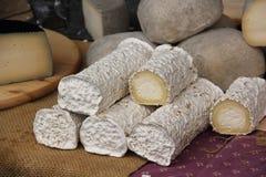 Ondas do queijo de cabra Foto de Stock Royalty Free