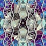 Ondas do relevo de testes padrões decorativos da telha de mosaico Imagens de Stock