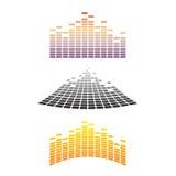 Ondas do som & do áudio ilustração royalty free