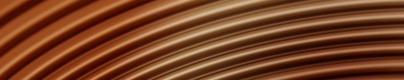 Ondas do sonho do chocolate ilustração royalty free