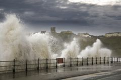 Ondas dos mares pesados Fotografia de Stock