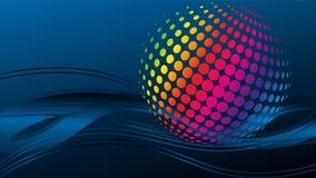 Ondas e círculos, música e som, fundo da tecnologia ilustração do vetor
