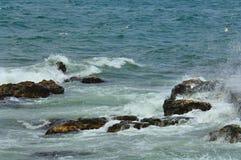 Ondas e espuma do mar Imagens de Stock Royalty Free