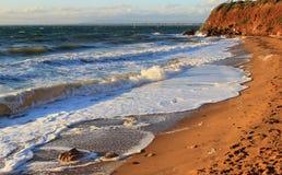 Ondas e praia do mar Fotografia de Stock Royalty Free