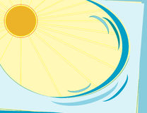 Ondas e Sun Fotos de Stock