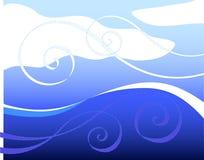 Ondas e vento Imagem de Stock