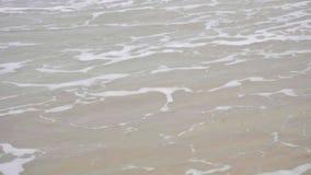 Ondas em um Sandy Beach filme